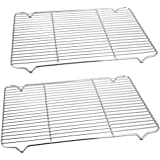 Baking Rack Cooking Rack Set of 2-16.6''x11.6'', P&P CHEF Stainless Steel Wire Cooling Drying Roasting Rack, Fits Half Sheet Cookie Pans, Commercial Quality, Oven & Dishwasher Safe