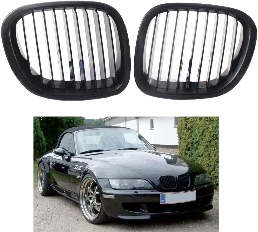 Beaums Remplacement pour BMW Z3 1996-2002 Type de Voiture 1 Paire Calandre Noire Gauche c/ôt/é Droit Grille 51138412950 51138412949