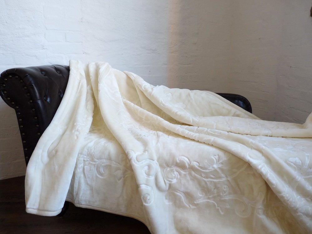 XXL Luxus Kuscheldecke Tagesdecke Decke Decke Decke elfenbein 200x240cm 98dcc7