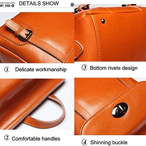 Satchel Shoulder Genuine Backpack Women Multifunctional for Bags Handbags School Casual Leather Bag Ladies z86nUAz