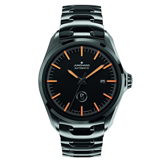Junghans Uhren Bogner Willy Automatic 027/4276.44 - Reloj para hombres, correa de acero inoxidable chapado color negro: Amazon.es: Relojes