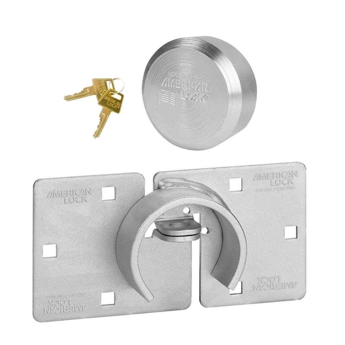 American / Master Lock (1) Hidden Shackle and Hasp Combo A801 - A2010NKA w/ Bumpstop Technology