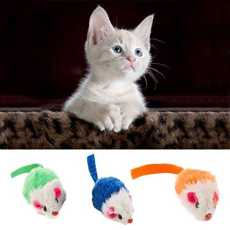 0Miaxudh Juguete para Gatos, Mini Ratón Falso Mascota para Gatos Gatito Duradero Chew Morder Scratch