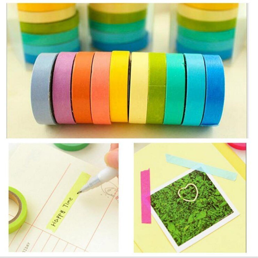 Amazon.com: 20 Rolls Washi Tape, Decorative Washi Tapes DIY Rainbow ...