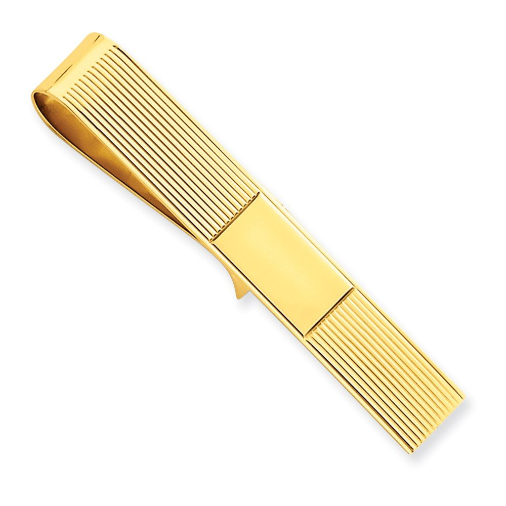 14k Yellow Gold Tie Bar and Money Clip