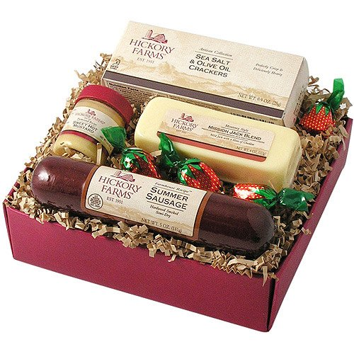Hickory Farms Christmas and Holiday 4-Piece Farmhouse Sausage & Cheese Sampler Gift Pack