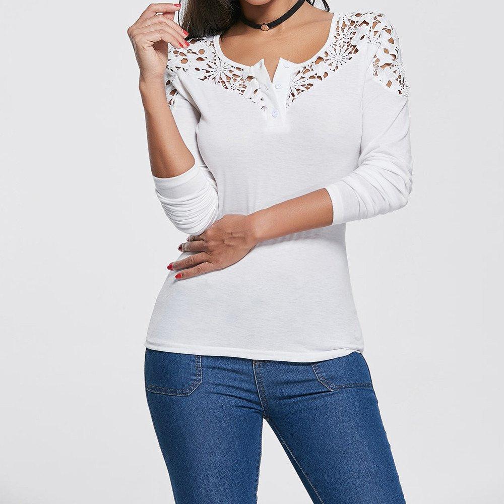 Btruely Herren_camisetas Las Mujeres Atractivas del Escote Redondo con Cordones De La Túnica De Manga Larga Camisas De Hombro Frío Blusas: Amazon.es: Ropa y ...