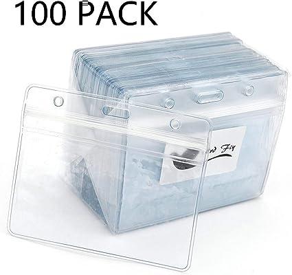 Plastica trasparente orizzontale impermeabile scheda ID nome azienda porta badge