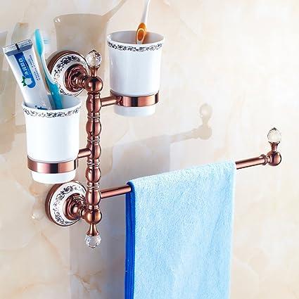 LCM OIU Europea toalla de todo el cobre/toallero/Antigüedades de oro rosa de