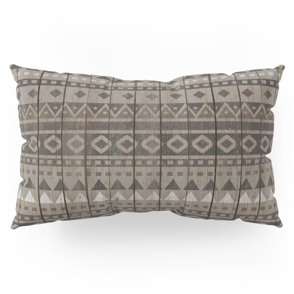 Society6 Tribal Wood Pillow Sham King (20'' x 36'') Set of 2