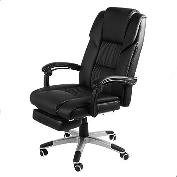 Homgrace Silla de oficina ejecutiva plegable, reclinable ...
