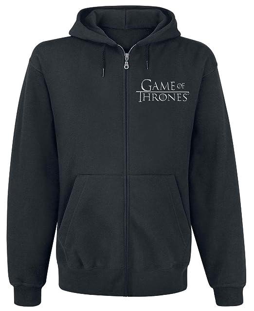 Game Of Thrones Juego de Tronos House Stark Capucha con Cremallera Negro: Amazon.es: Ropa y accesorios