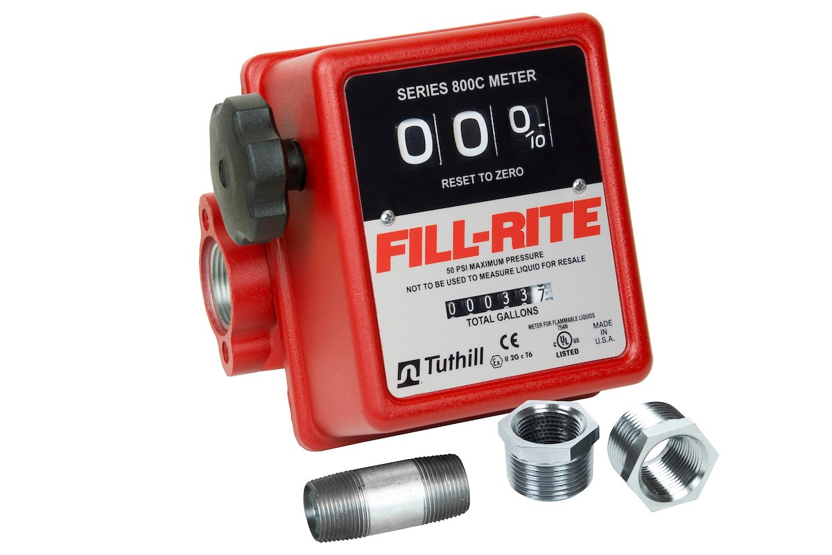 Fill Rite 806c 3 Wheel Gravity Meter With Strainer 5 To 20 Gpm Push The Into Black Mounting Flange From Back Until It Science Lab Meters Industrial Scientific