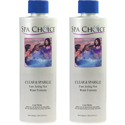 2-Pack Clear & Sparkle Water Clarifier for Spas & Hot Tubs - 2 Pints (32 oz. Total) : Garden & Outdoor