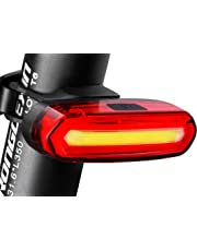 Eximtrade USB Recargable Bicicleta 6 Modos Luz Cola Flash LED Lámpara Luz Alerta Impermeable (Rojo y Blanco)