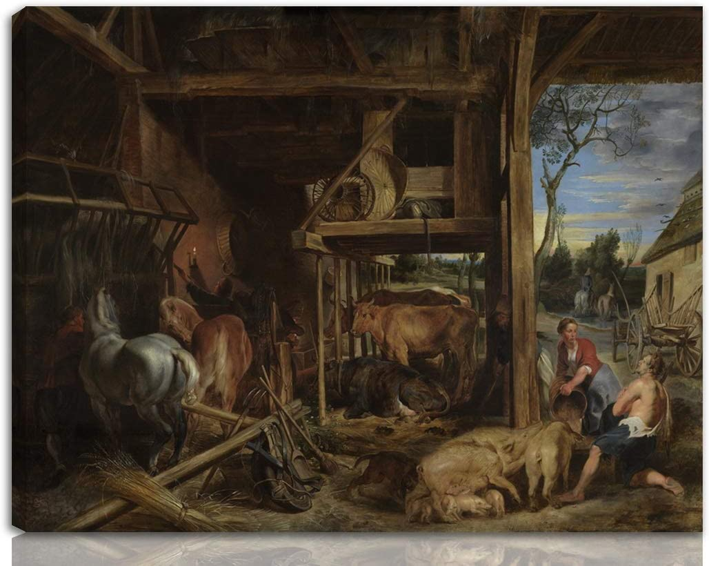 Berkin Arts Peter Paul Rubens Stretched Giclee Print On Canvas-Famous Paintings Fine Art Poster-Reproduction Wall Decor Ready to Hang(The Prodigal Son)#NK