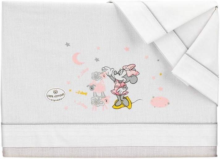 Sábanas Disney Minnie Minicuna Algodón Blanco y Gris: Amazon.es: Bebé