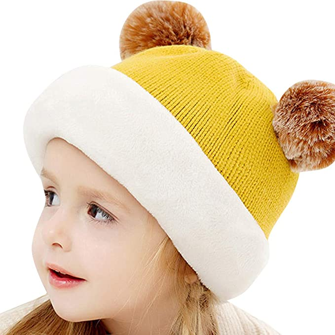 45822f617 Baby Zoylink Baby Cap Solid Color Knitted Infant Cap Baby Beanie Hat ...