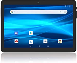 Android Tablet 10 Inch, 3G Phablet, Android 9.0 Tablets, 32GB Storage, GMS Certified, Dual SIM Card Slot and Cameras, WiFi, Bluetooth – Black