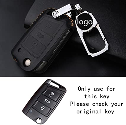 raoping llave del coche caso funda cadena para Volkswagen VW Polo ...