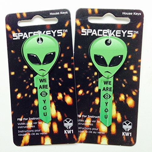 Bright Green Alien Head Shaped Space Key Kwikset KW1 KW10