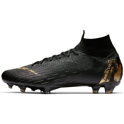54eb02884 Nike Men's Superfly 6 Elite FG Soccer Cleats (Black/Metallic Vivid Gold) (