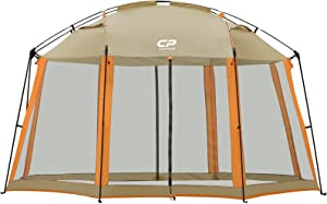 CAMPROS Screen House Room 13 x 13 Ft Screened Mesh Net Wall Canopy Tent Camping Tent Screen Shelter Gazebos for Patios Outdoor Camping Activities