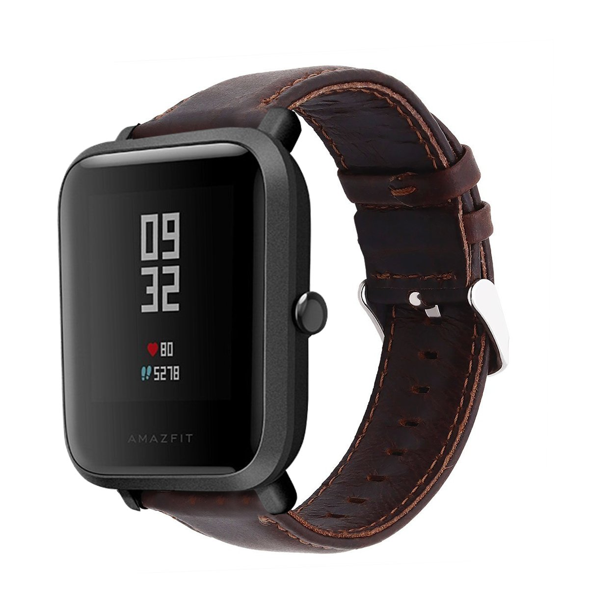 Amazon.com: Lamshaw Leather Strap Replacement Band for Xiaomi Amazfit Bip / Xiaomi Huami Amazfit Bip Younth Watch (leather-Coffee): Cell Phones & ...