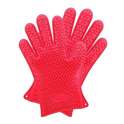 Guantes de horno para barbacoa, los mejores guantes versátiles resistentes al calor para parrilla de