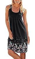 DIOSA Women's Sleeveless Summer Floral Dress Printed Dress Beach Party Sundresses Sleeveless Loose Summer Dress