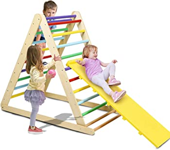 Costzon Foldable Triangle Ladder Climbing Toy