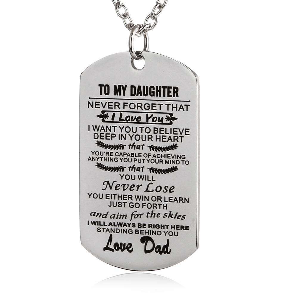 FAYERXL to My Amazing Daughter Son Dog Tag Necklace Gift Ideas from Dad Mom Inspiration Quote Gift B07G9YRL3S_US