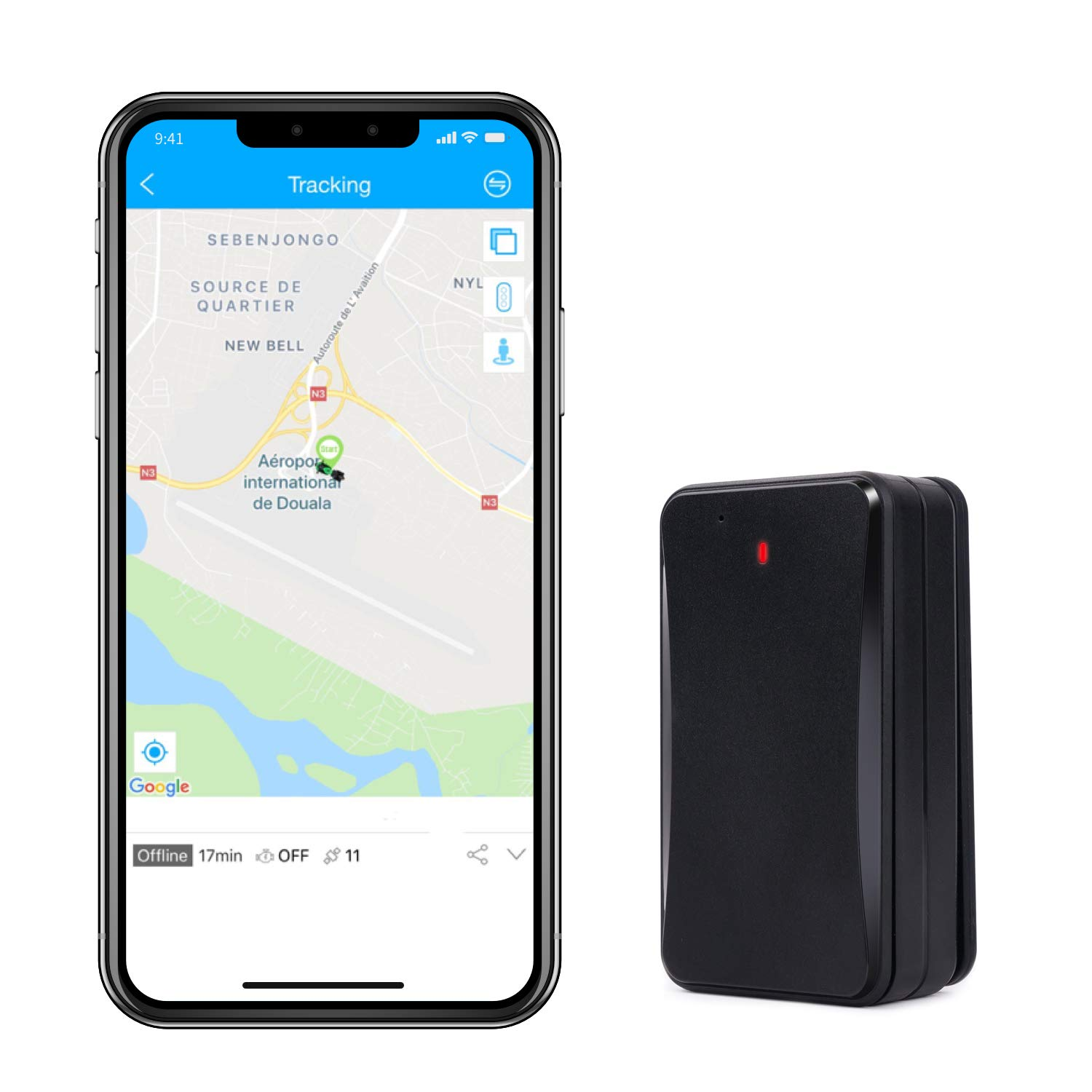 Hidden GPS Tracker Lifetime Free, Famisafe 10000mAh 3G Real Time Car GPS Tracker for Personal Vehicles with IP65 Waterproof Magnetic Case, 180 Days Long Standby LBS Positioning Fuction (GPS-Tracker) by famisafe