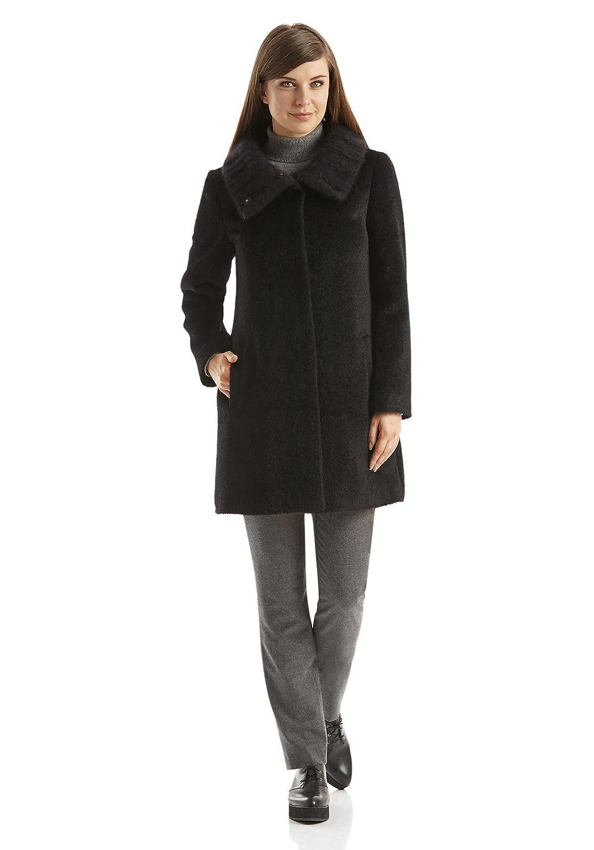 Bio Damen Mantel aus Schurwolle mit Alpaka, schwarz, 46  Amazon.de   Bekleidung e994f66a37