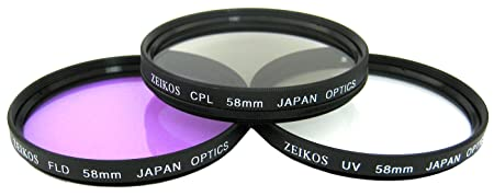 Review Zeikos 58MM Multi-Coated UV-CPL-FLD