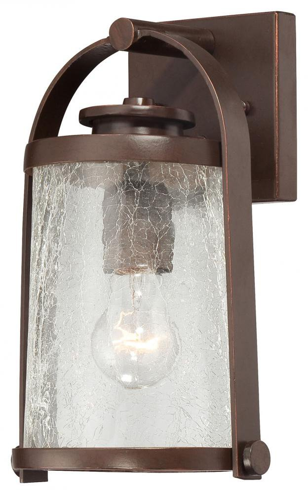 Minka Lavery 72331-291 1 Light Outdoor Wall Mount, Architectural Bronze with Copper Highlights Finish