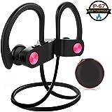Bluetooth Kopfhörer Kabellos Sport in Ear Kopfhörer Bluetooth Headset Wireless IPX7 Wasserdicht Kopfhoerer Zum Joggen Laufen Workout geräuschunterdrückend mit Mikrofon für iPhone, iPad und Android