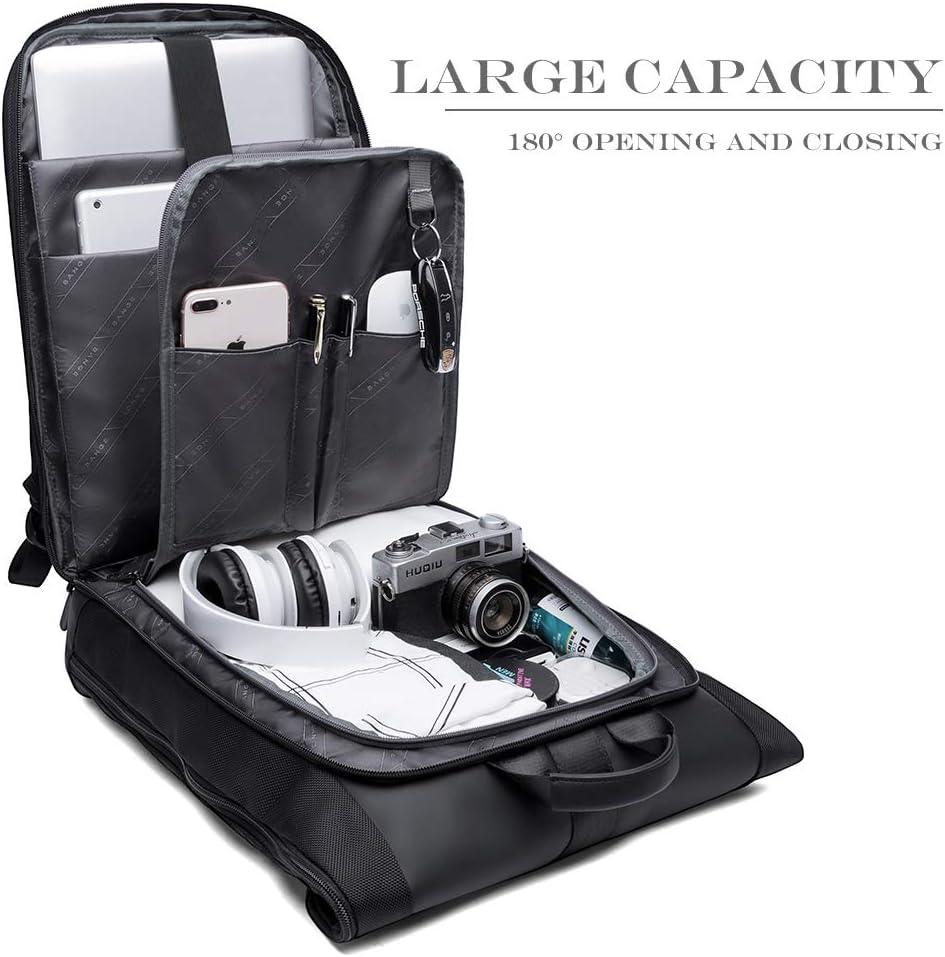 Casual Escolares Mochilas Multifuncional Roll Top Backpack para Negocio Trabajo Ordenador Viaje Mochila Antirrobo Impermeable Mochila Port/átil Hombre 15.6 Pulgadas