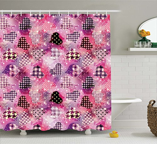 Ambesonne Featured Houndstooth Feminine Bathroom product image