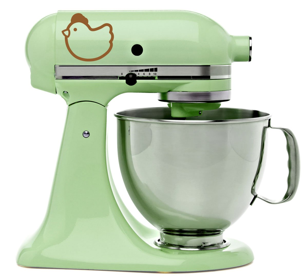 Amazon.com: Cute Chicken Kitchenaid Mixer Mixing Machine Brown Vinyl Decal  Art Wrap: Kitchen U0026 Dining
