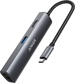 Anker 5-in-1 USB C Adapter with 4K USB C to HDMI