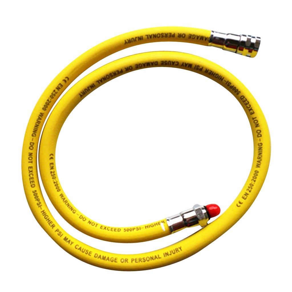 Baoblaze 28'' Scuba Dive Inflator Regulator Hose with Quick Release Connector Hose 2nd Stage Yellow
