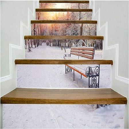 SERFGTFH Escaleras Pegatinas Flores Rosadas Road Hada Paisaje Mundial Caída Piso Decoración De Pared Calcomanías Adhesivos Salón 3D Sticker: Amazon.es: Hogar