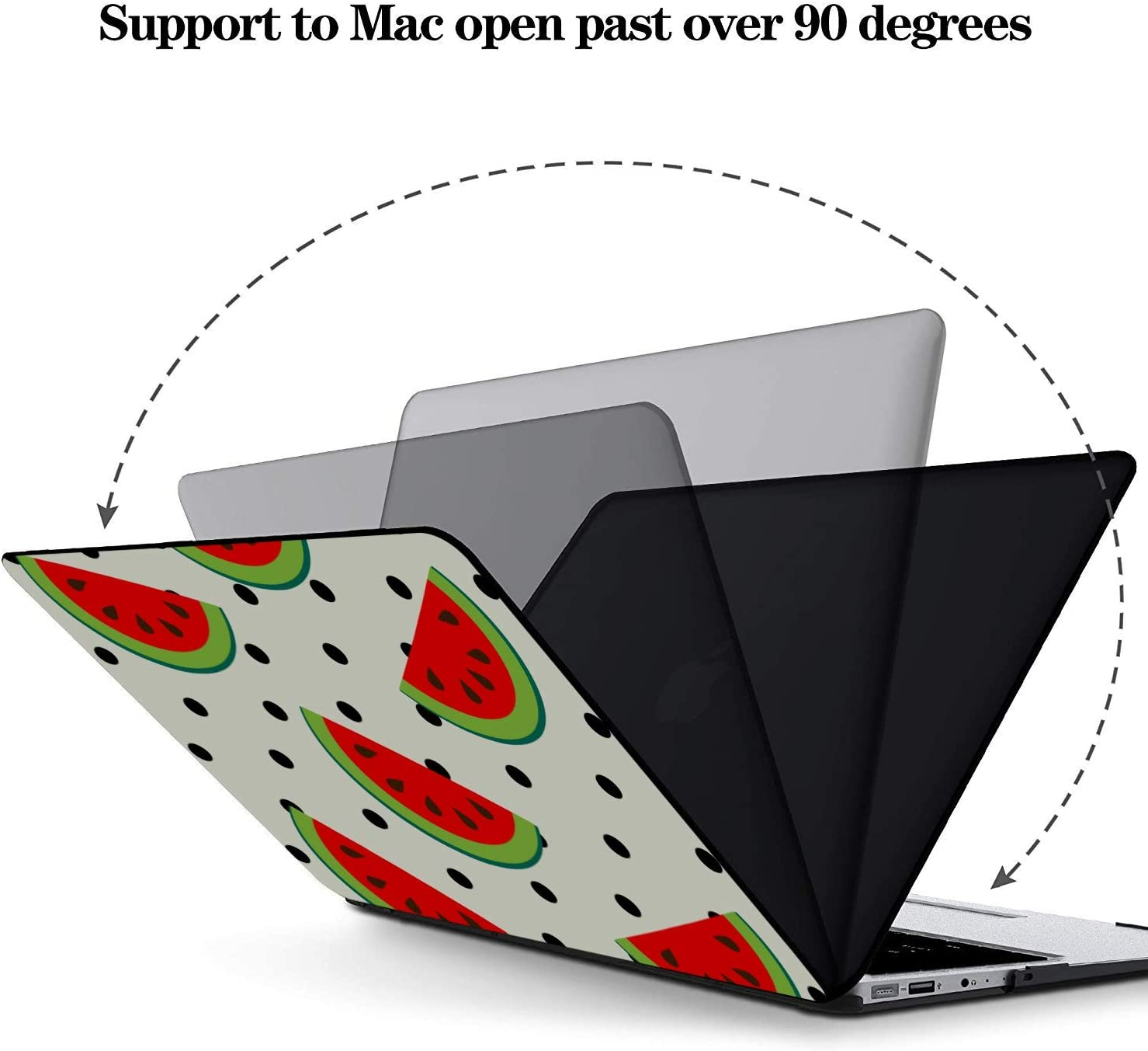Mac Book Air Case Summer Vintage Cute Fruit Watermelon Plastic Hard Shell Compatible Mac Air 11 Pro 13 15 Mac Book Pro Cases Protection for MacBook 2016-2019 Version
