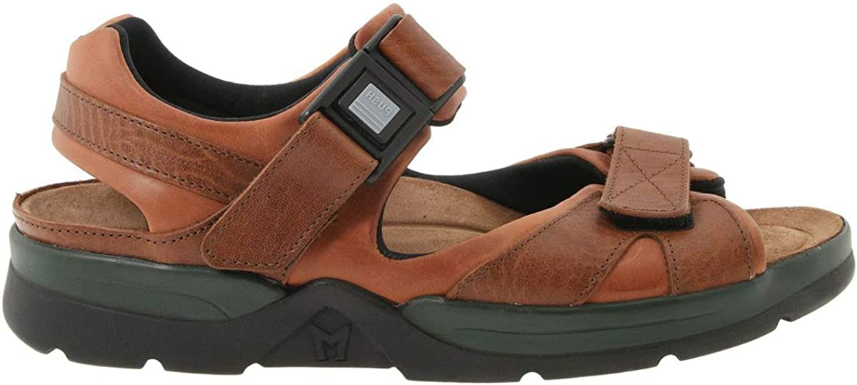 Mephisto Men's Shark Sandals Chestnut Waxy/Tan Grain Leather 7 M US
