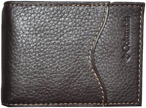 Columbia Mens Leather Pocket Wallet