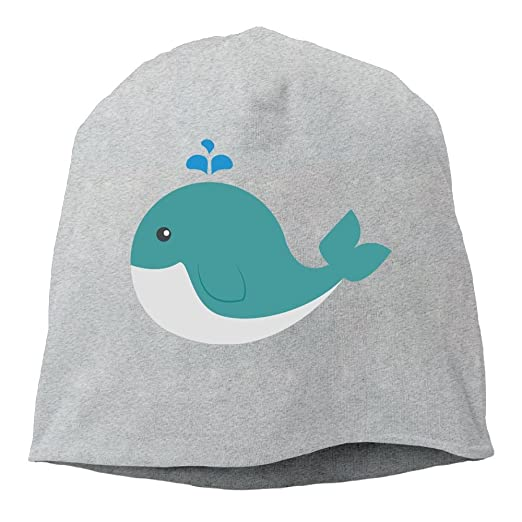e8e94f8fe70 Fashion Solid Color Cute Whale Funny Logo Head Cap for Unisex Ash One Size