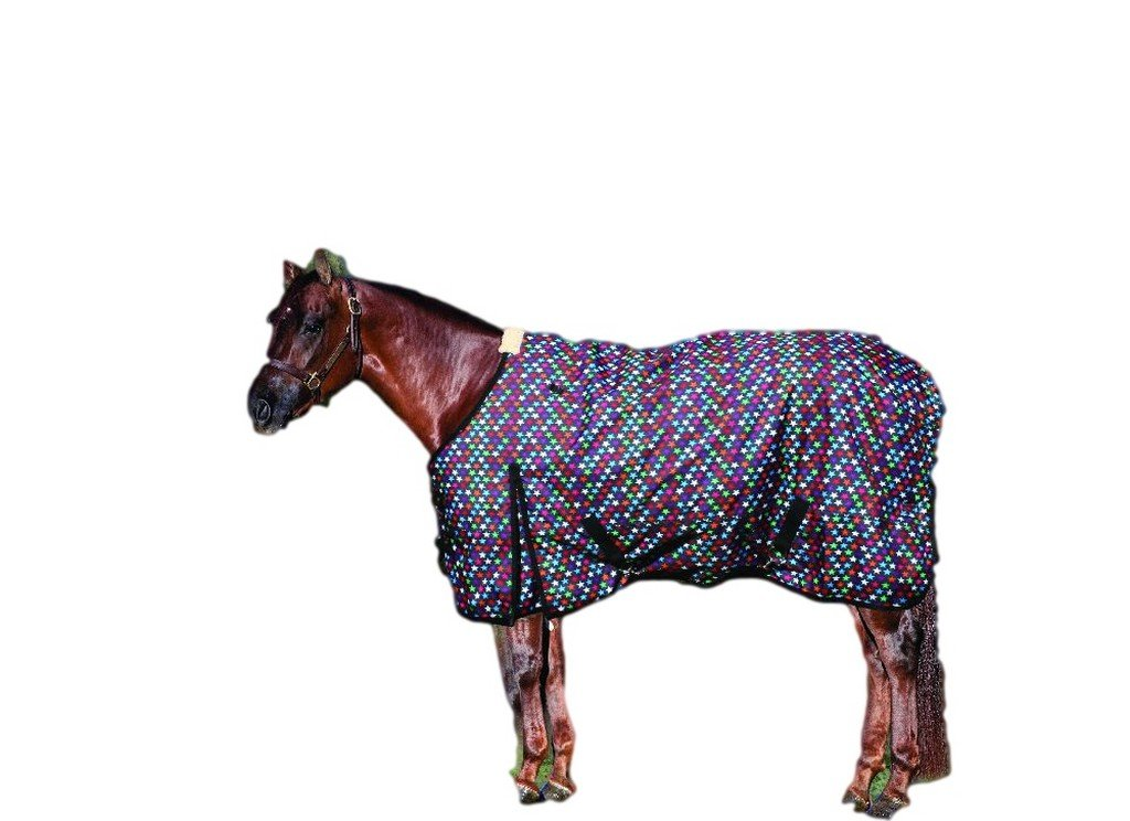 Equisential by Professionals Choice Equine 600D Winter Blanket (Size 74-Inch, Stars)