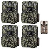 Browning Trail Cameras Four Command Ops Pro Game Cameras (14MP, Camo) with Focus USB Card Reader