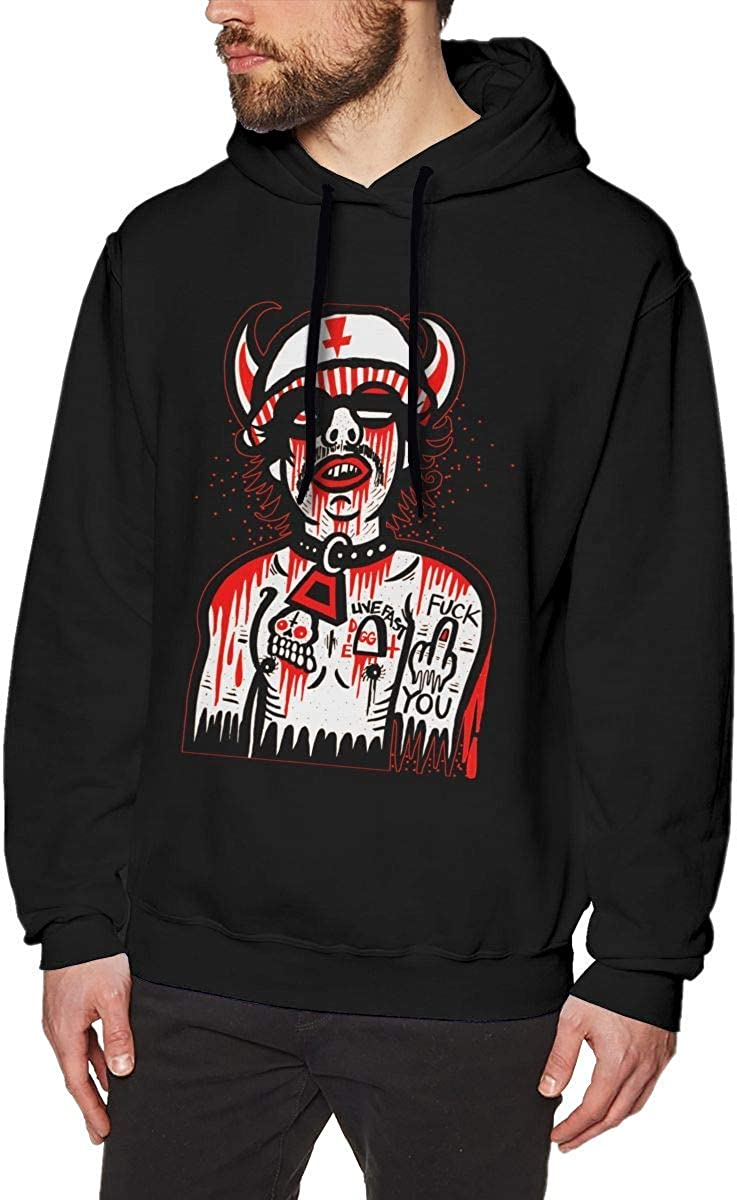 JosephineGrimes Mens Long Sleeve Hooded 3D Print GG Allin Pullover Athletic Hoodies